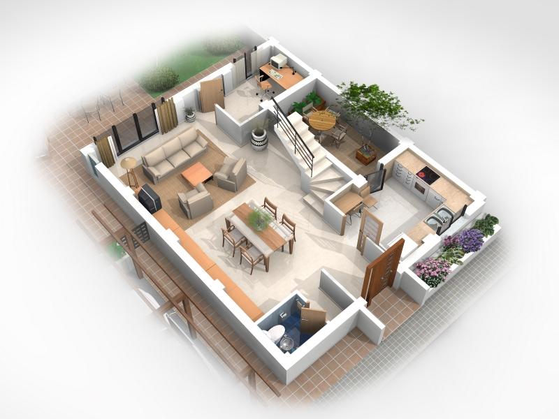 Complejo residencial de 8 viviendas pareadas godella for Distribucion de una casa de una planta